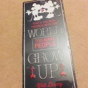 Walt Disney quote sign